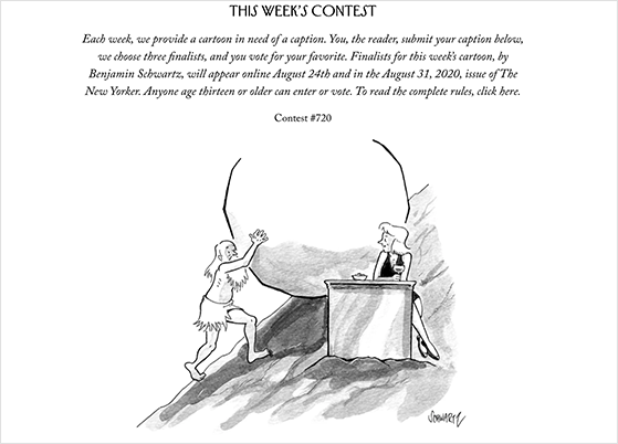 New Yorker caption contest example