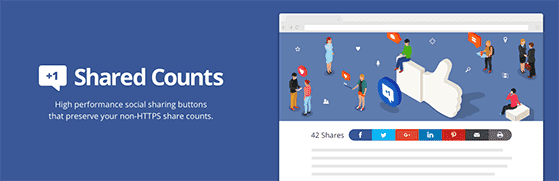 Shared Counts is the best social sharing plugin for WordPress