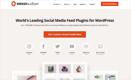 Smash Balloon is the best social feed plugin for WordPress