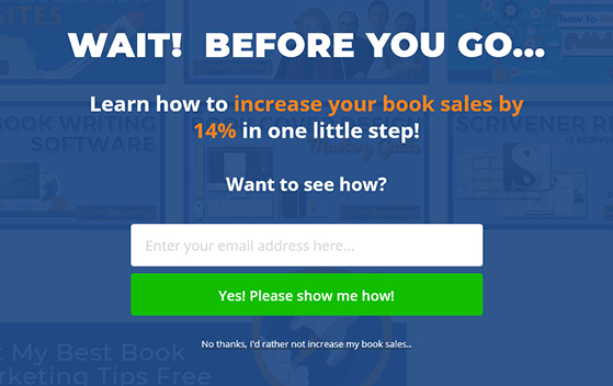 use power words in exit popups to increase conversions