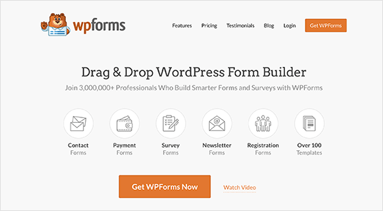 WPForms is the best contact form plugin for lead generation