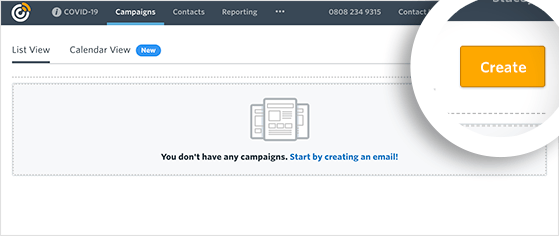 Create a new email campaign
