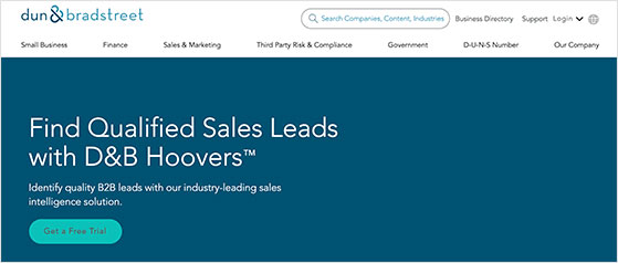 d and b hoovers makes it easy to find qualified business leads