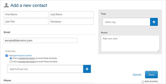 Enter your email address details