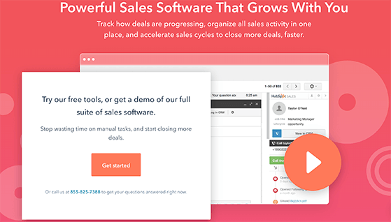 hubspot sales marketing tools for small businesses