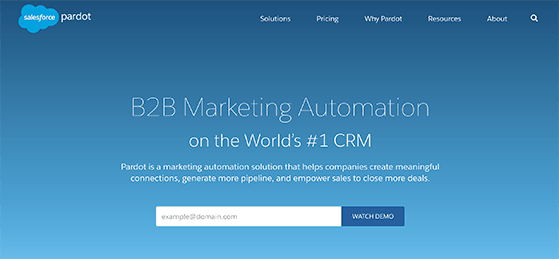 Pardot marketing automation solution
