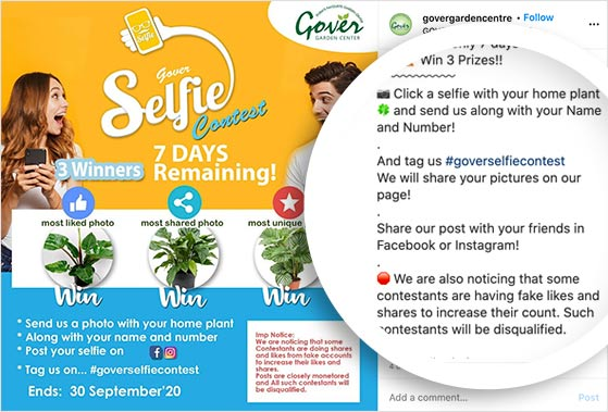 selfie contest rules and guidelines