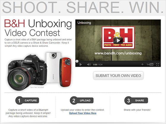 Collect user-generated contest with an unboxing video contest idea