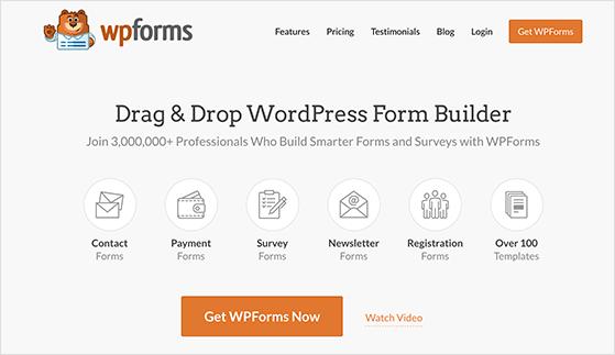 WPForms is the best WordPress contact form plugin
