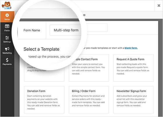 Create multi step form in WordPress