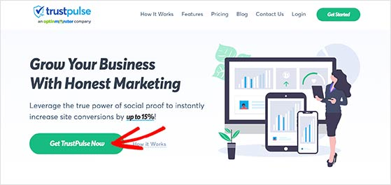 Click to get the TrustPulse live sales notifications plugin