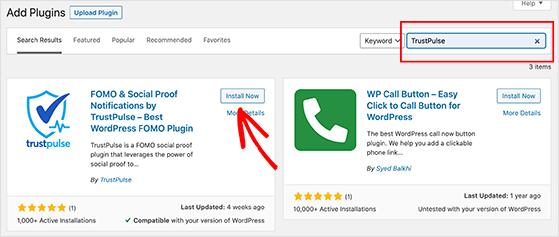 Install the TrustPulse WordPress plugin