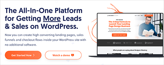 OptimizePress powerful website builder and landing page creator