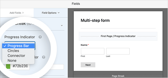 choose a progress bar style to customize