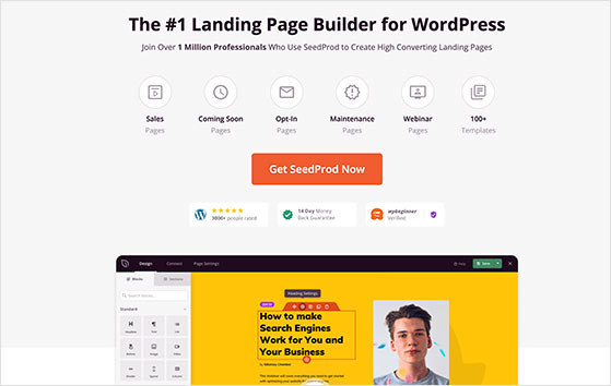 SeedProd the best drag and drop landing page builder for WordPress
