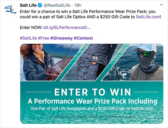 choose a relevant prize for your Twitter giveaway