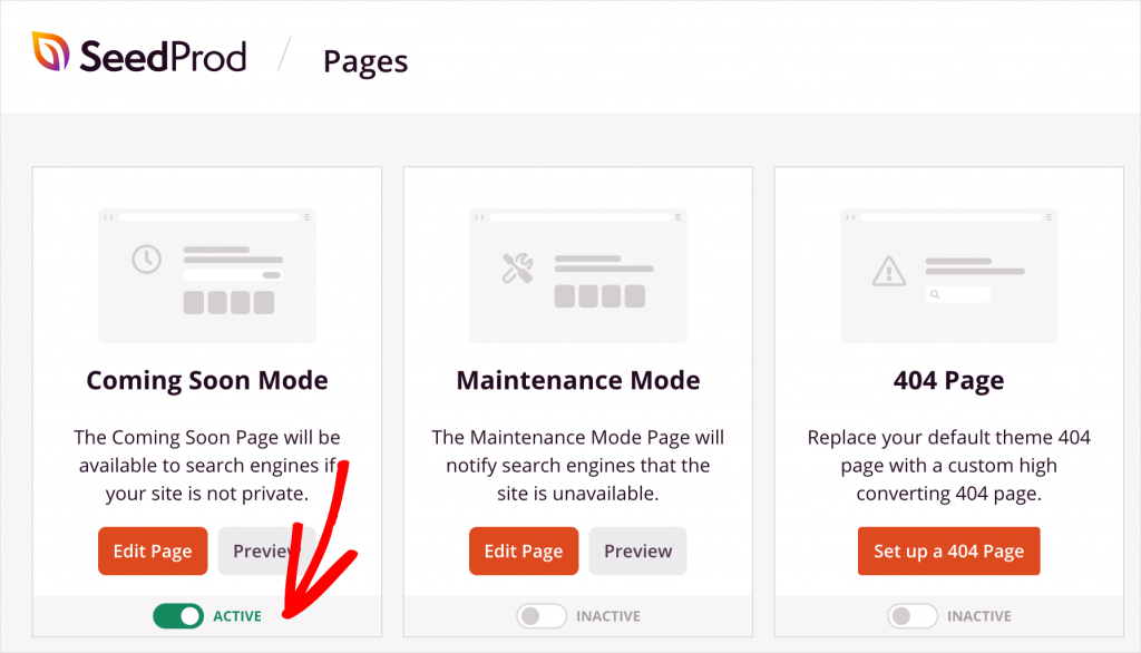 Activate coming soon mode for your WordPress website
