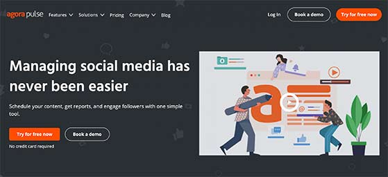 AgoraPulse social media contest tools