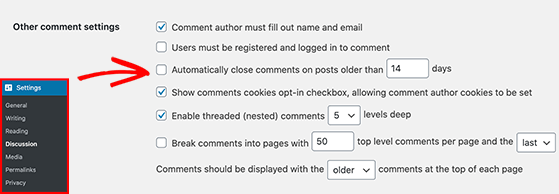 Allow comments on older posts