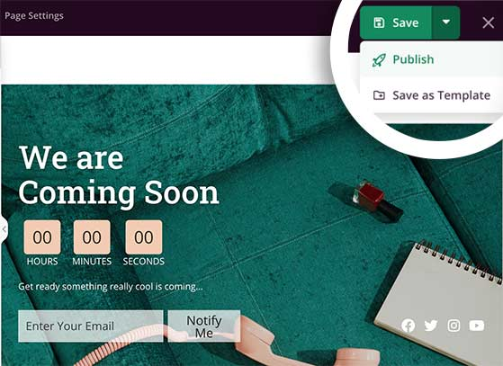 Publish your coming soon page in WordPress
