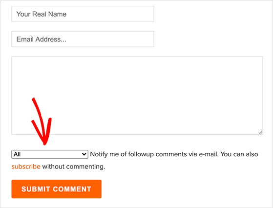 Let readers subscribe to blog comments
