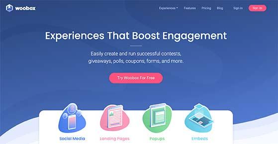 Woobox online contesting software gleam alternatives