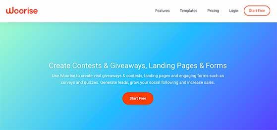 Woorise social media contest tool