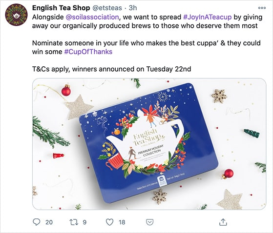 Nominate a winner twitter contest example