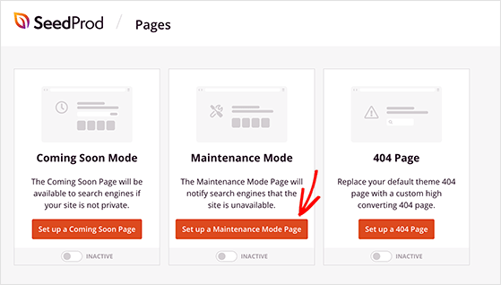 Set up a WordPress maintenance mode page