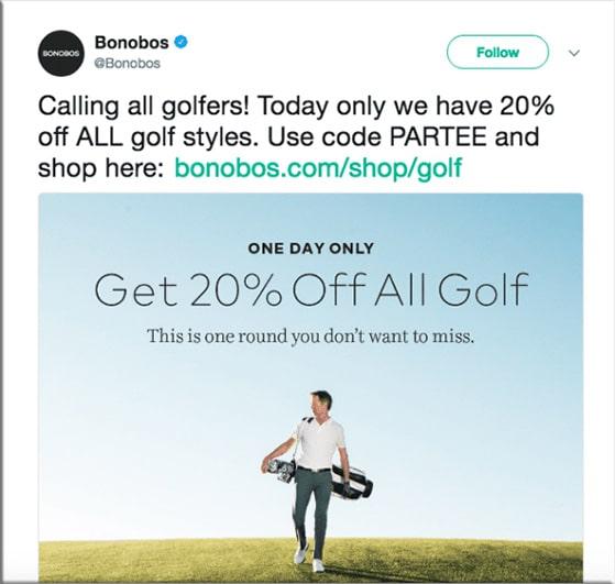 Social media discount coupon