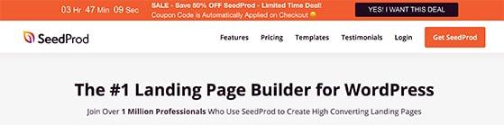 Website floating bar discount