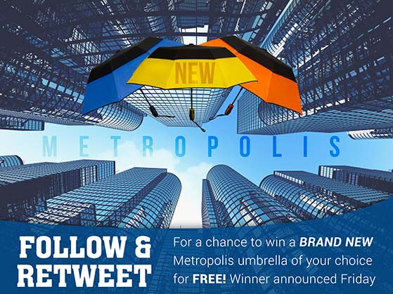 Branded umbrellas are great promotional giveaway items
