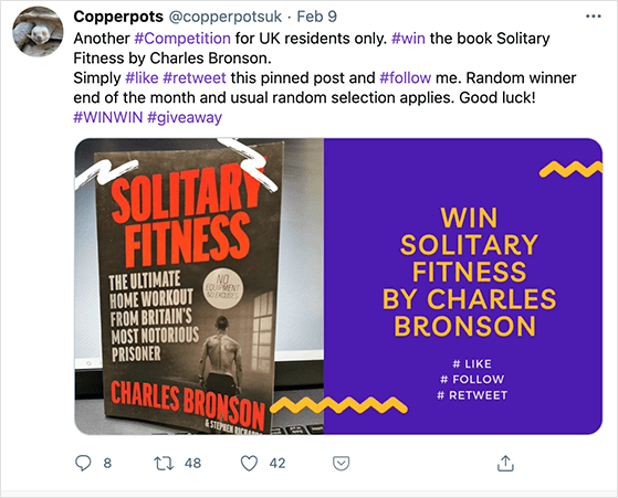Twitter book giveaway idea