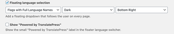 Add a floating language switcher