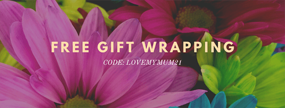 Offer free gift wrapping with mother's day purchases