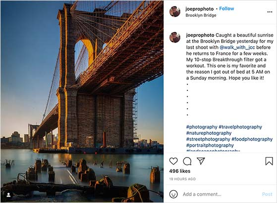 Take high quality Instagram photos to improve your followers