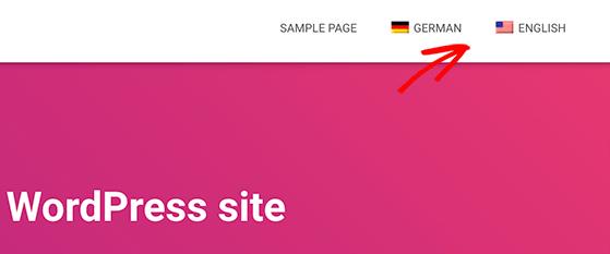 Language switcher in WordPress menu