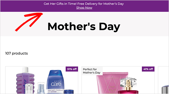 Mother's day free shipping banner