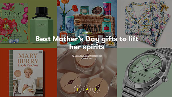 Create a mother's day gift guide to promote your brand