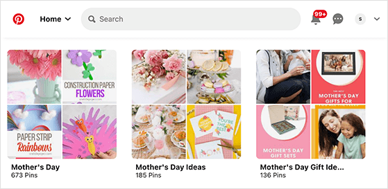 Create pinterest boards for your Mother's Day products
