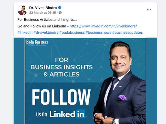 Promote your LinkedIn profile on other social media platforms
