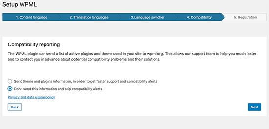 WPML compatibility reports