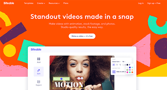BIteable video creation tool