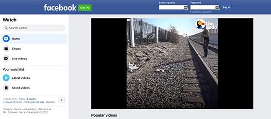 Facebook video hosting