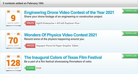 online video contest website