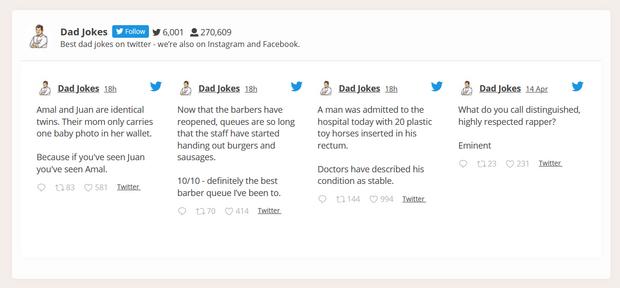 embedded custom twitter feed demo