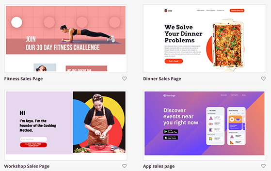Choose a landing page template for WordPress