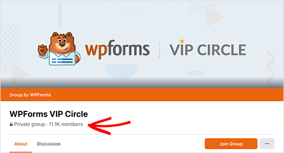 WPForms grew their facebook group with RafflePress monthly giveaways