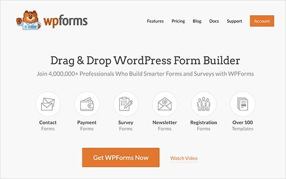 WForms best WordPress form builder plugin
