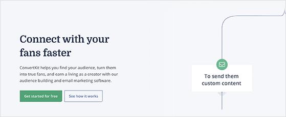 ConvertKit free email marketing tool